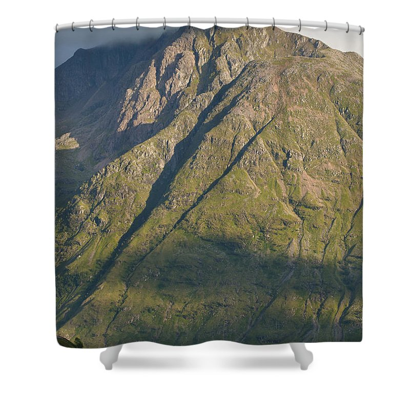 Britain Shower Curtain featuring the photograph Mountain Peaks At Glencoe by Andrew Michael