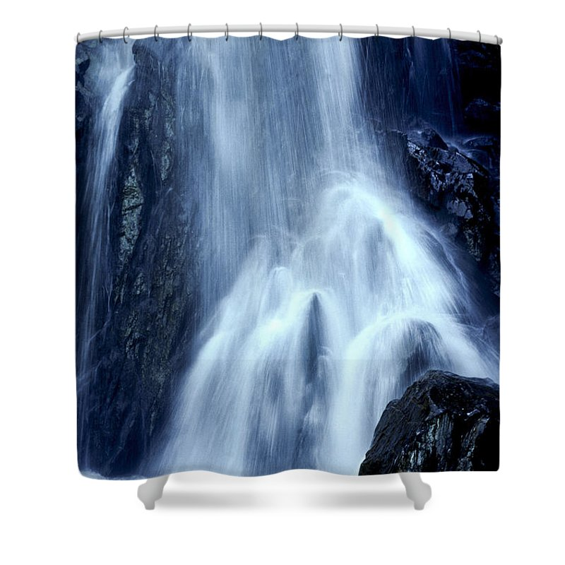 Mt. Zirkel Shower Curtain featuring the photograph Mountain Waterfall Colorado by Boyd Norton