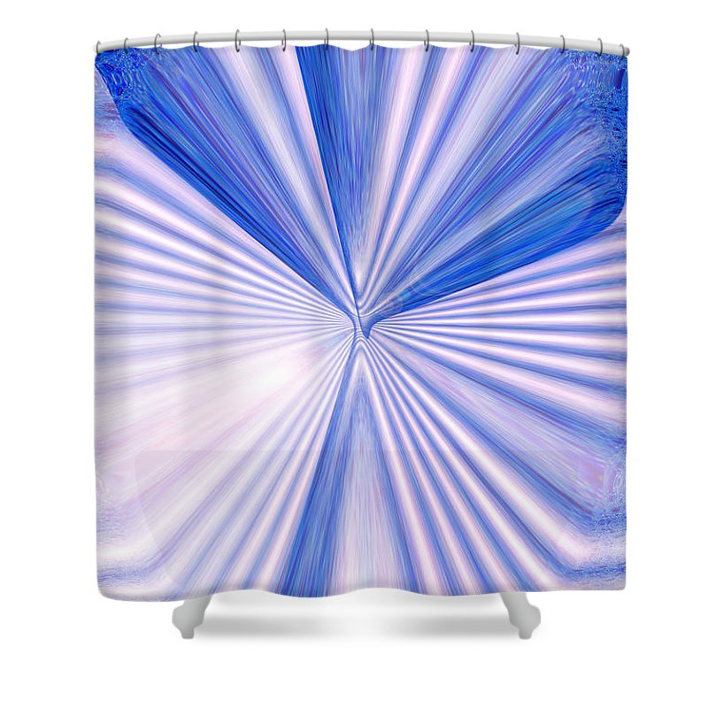 Moveonart! Global Gathering. Branch justcentering Digital Abstract Art By Artist Jacob Kane Kanduch -- Omnetra Shower Curtain featuring the digital art MoveOnArt JustCentering by Jacob Kanduch