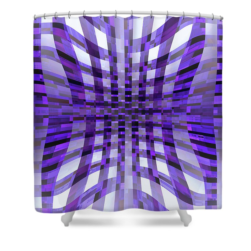 Moveonart! Global Gathering. -- Digital Abstract Art By Jacob Kane -- Omnetra Shower Curtain featuring the digital art Moveonart Moveonin by Jacob Kanduch