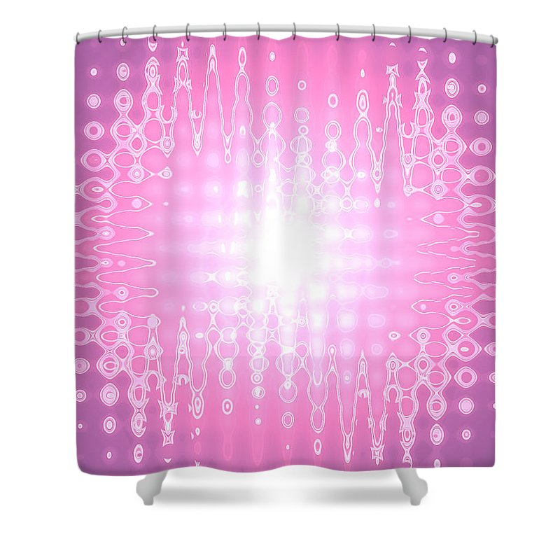 Moveonart! Global Gathering. Branch. -- Digital Abstract Art By Artist Jacob Kane -- Omnetra Shower Curtain featuring the digital art Moveonart Yesthefutureishere by Jacob Kanduch