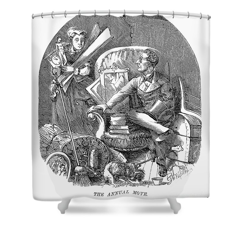 1870 Shower Curtain featuring the photograph Moving Day, 1870 by Granger