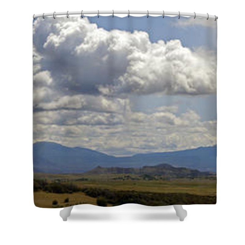 Mt Shasta Shower Curtain featuring the photograph Mt Shasta On A Showery Spring Day by Mick Anderson