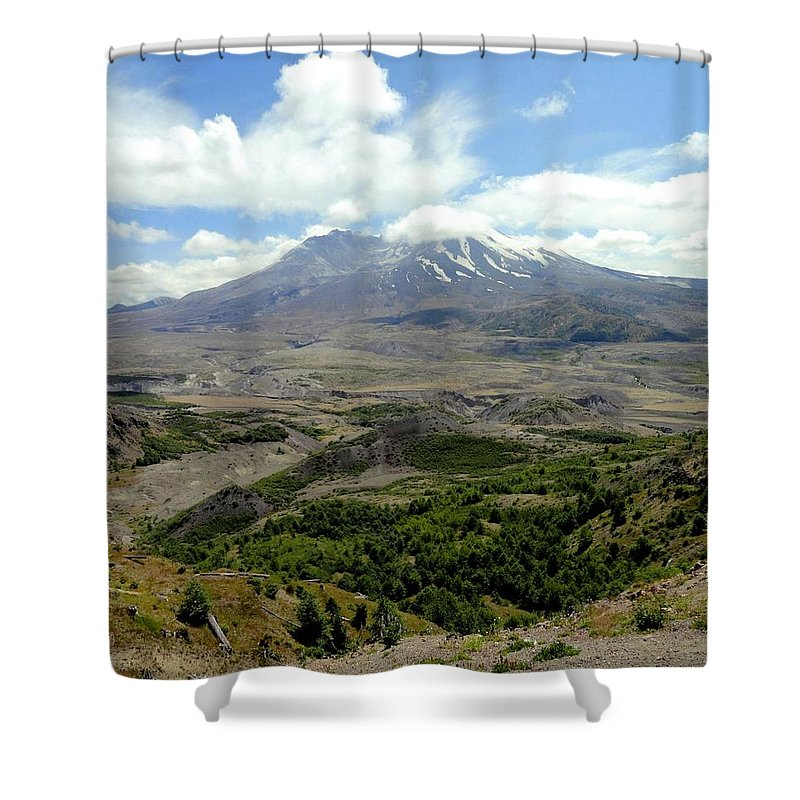 Photos Of Mt St Helens Photographs Photographs Shower Curtain featuring the photograph Mt St Helens 3 by Christy Leigh