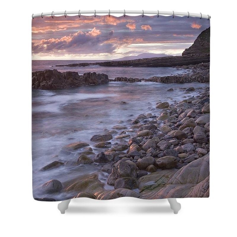 Sunset Shower Curtain featuring the photograph Mullaghmore Head, Co Sligo, Ireland by Gareth McCormack