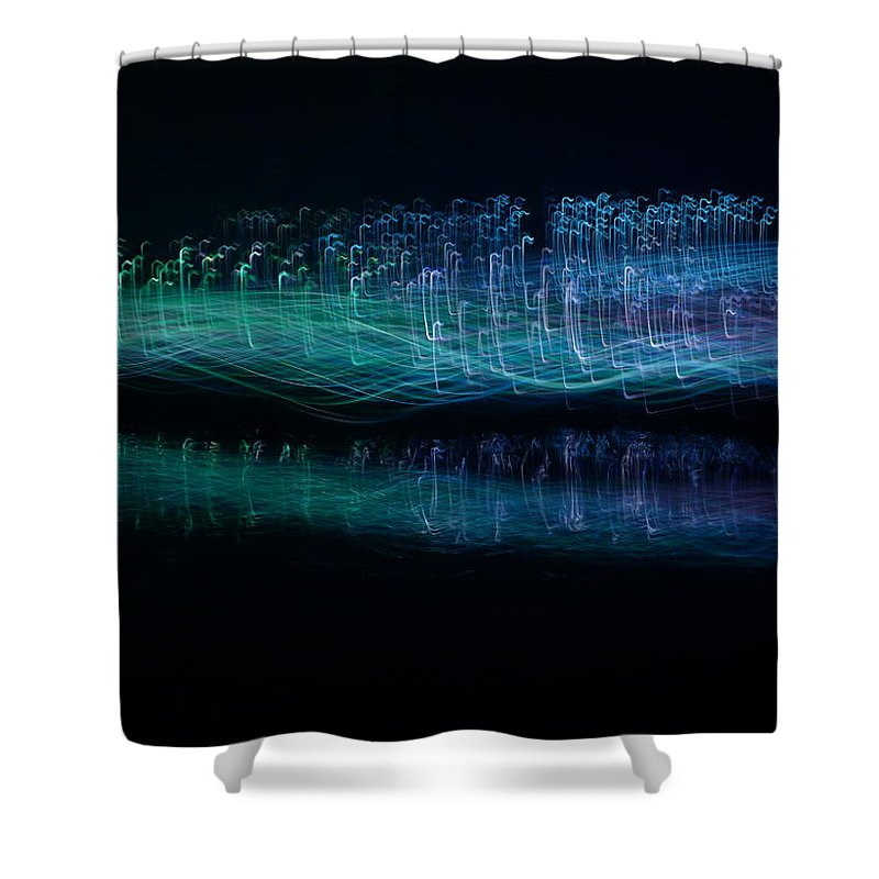 Longwood Shower Curtain featuring the photograph Munro River Reflections 1 by Richard Reeve