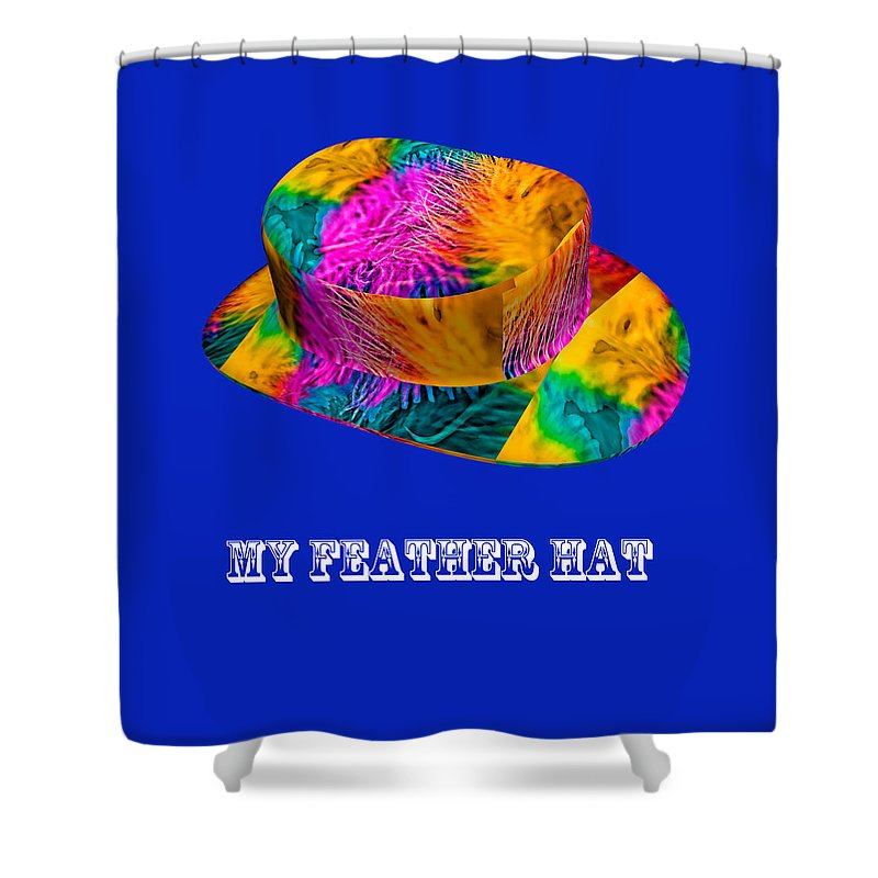 Marabou Feather Shower Curtain featuring the photograph My Feather Hat by Steve Purnell