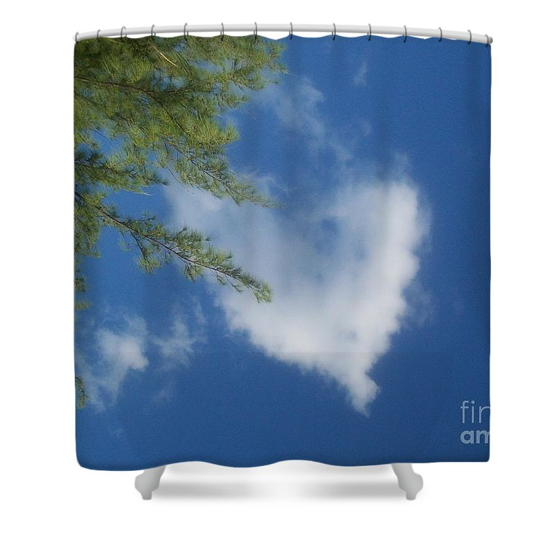 My Heart - Nuage - Ile De La Reunion Shower Curtain featuring the photograph My Heart - Ile De La Reunion by Francoise Leandre