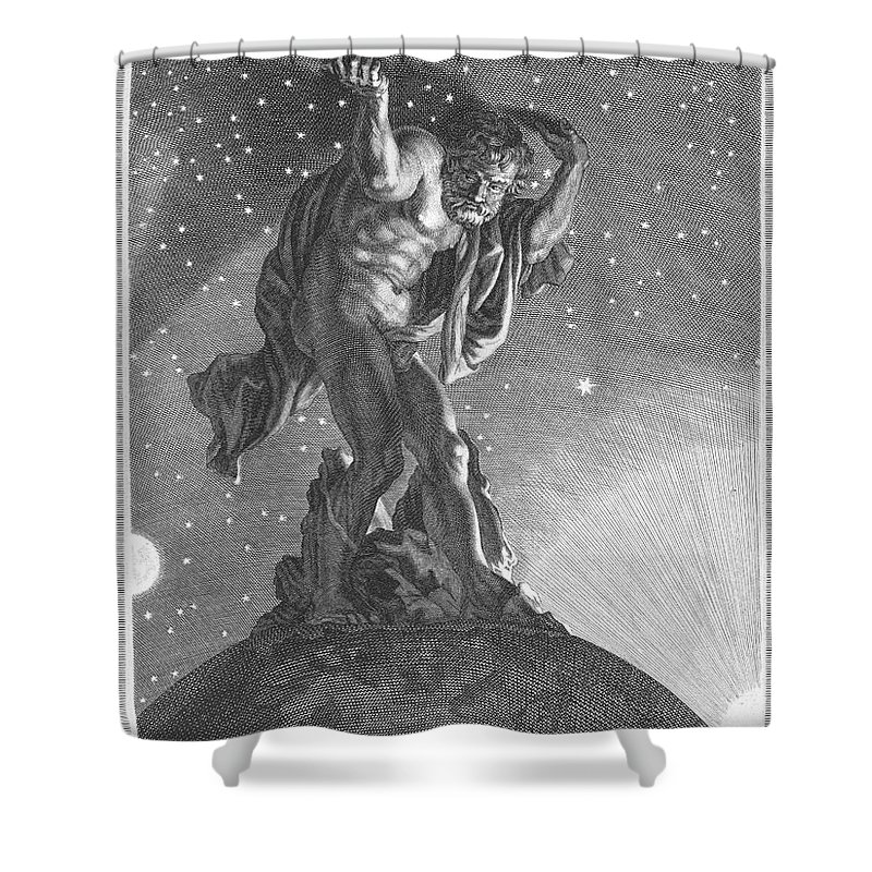 Atlas Shower Curtain Featuring The Photograph Mythology By Granger