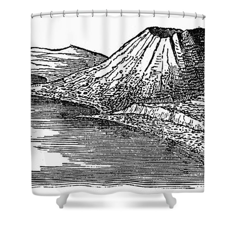 1887 Shower Curtain featuring the photograph Naples: Monte Nuovo, 1887 by Granger