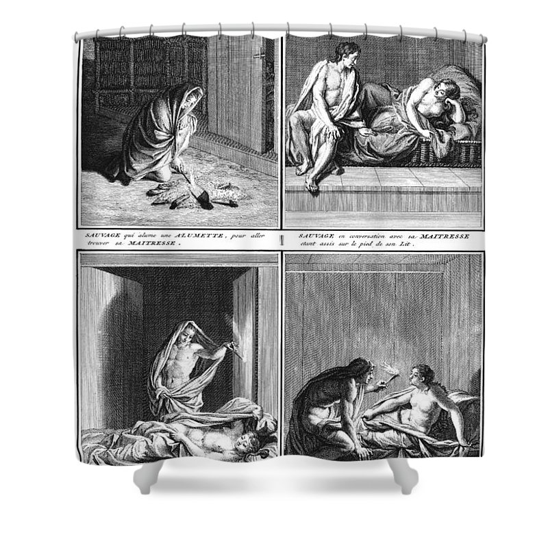 1723 Shower Curtain featuring the photograph Native American Courtship by Granger