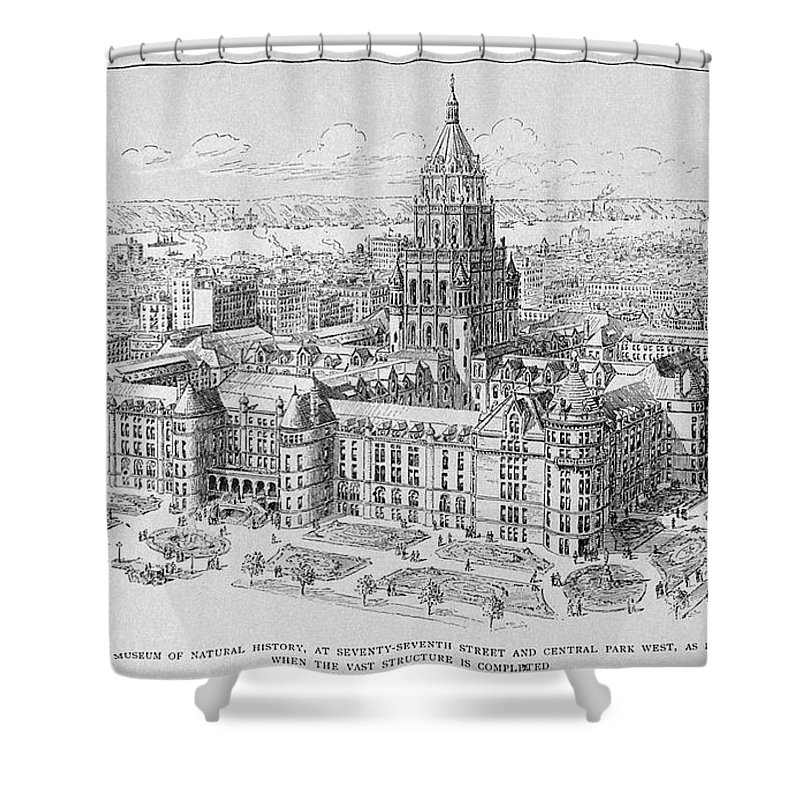 19th Century Shower Curtain featuring the photograph Natural History Museum by Granger