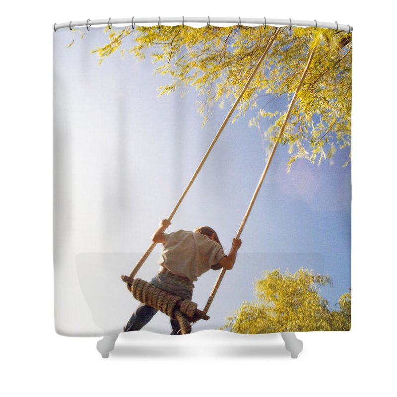 Light Shower Curtain featuring the photograph Natural Swing by Darwin Wiggett