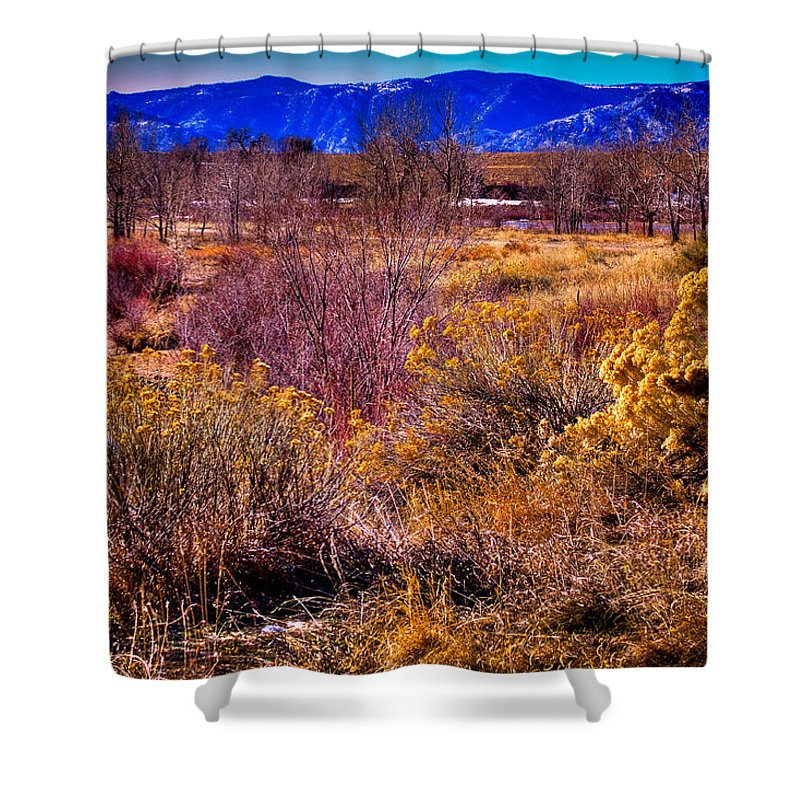 Denver Shower Curtain featuring the photograph Nature At It's Best In South Platte Park by David Patterson