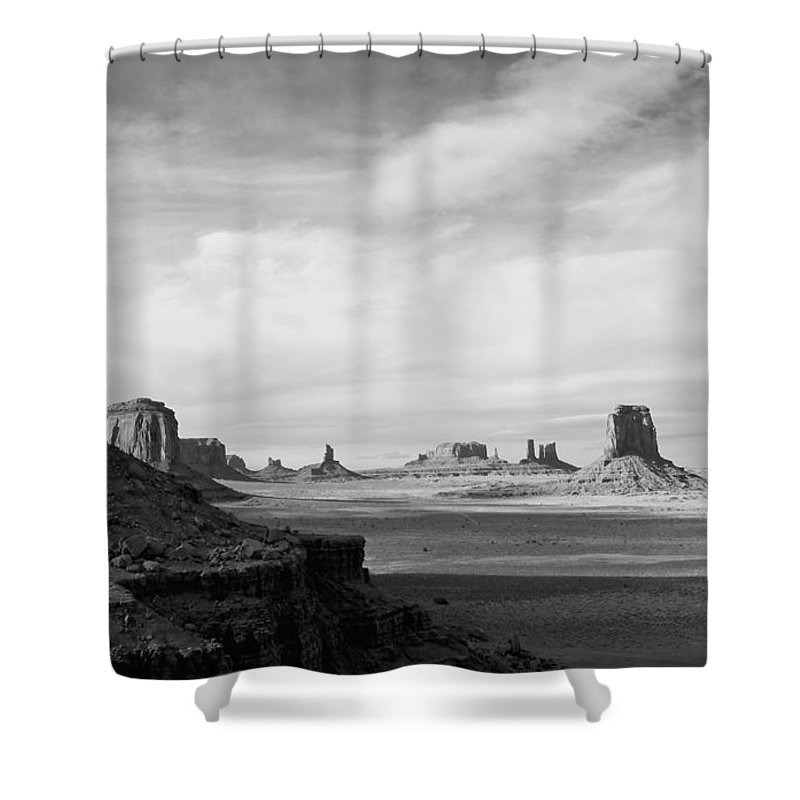 Serene Shower Curtain featuring the photograph Nature's Sculptures by Jim Chamberlain