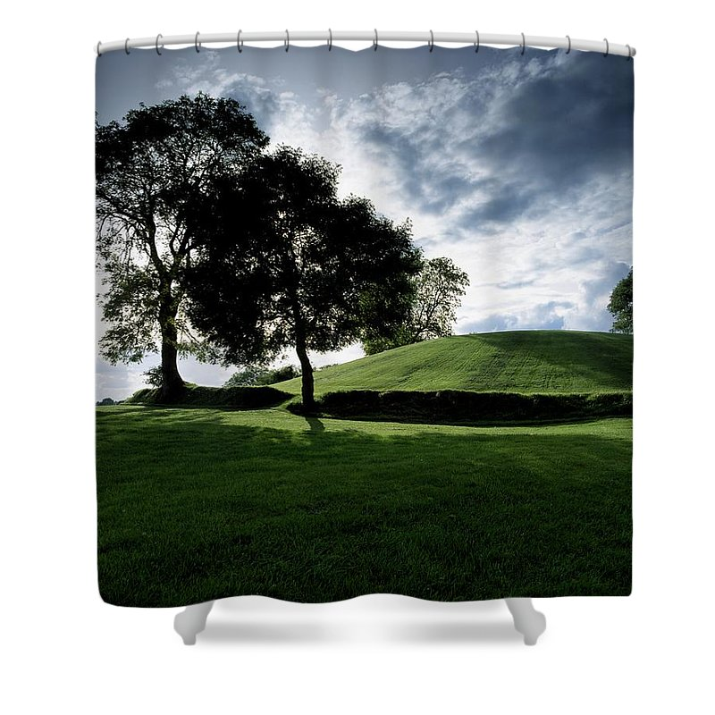 Archeological Site Shower Curtain featuring the photograph Navan Fort, Co Armagh, Ireland by The Irish Image Collection