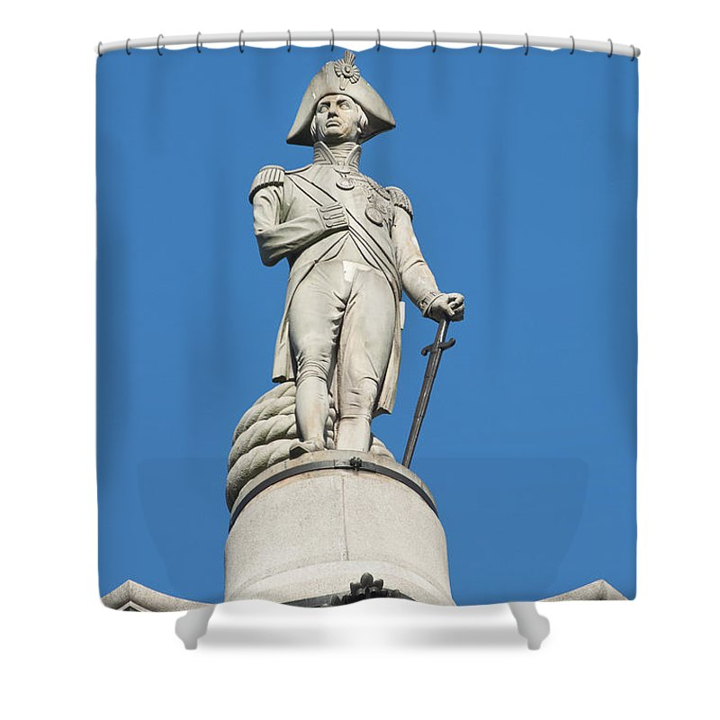 British Shower Curtain featuring the photograph Nelson by Andrew Michael