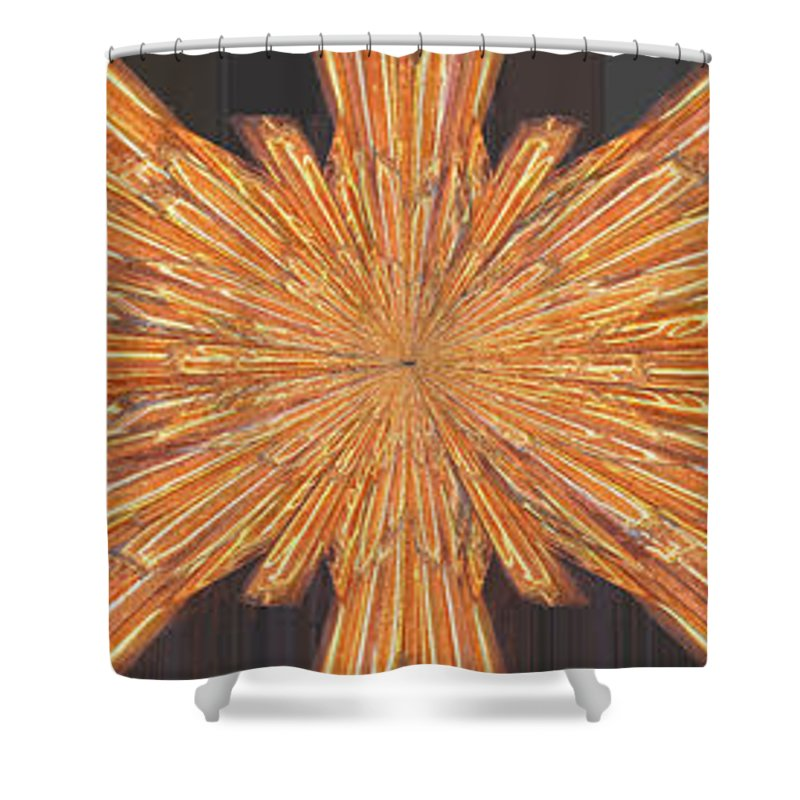 Neon Shower Curtain featuring the digital art Neon On The Night by Tim Allen