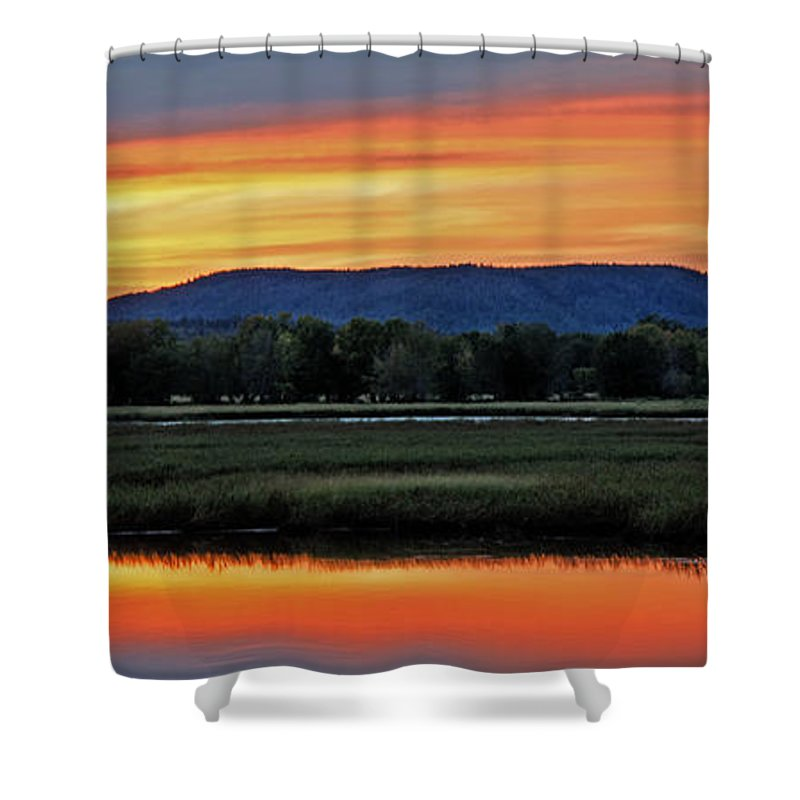 Marsh Shower Curtain featuring the photograph Nerepis Marsh At Dusk IIi by Jeff Galbraith