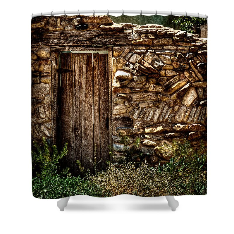 New Mexico Door Ii Shower Curtain featuring the photograph New Mexico Door II by David Patterson