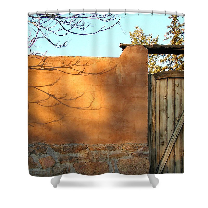 New Mexico Shower Curtain featuring the photograph New Mexico Series - Doorway II by Kathleen Grace