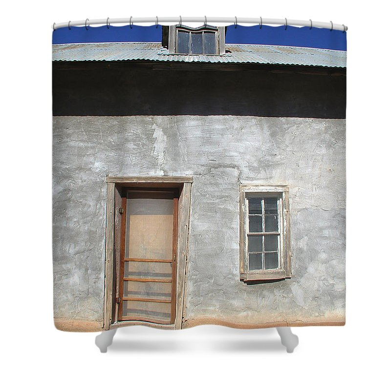 Southwestern Shower Curtain featuring the photograph New Mexico Series - Doorway IIi by Kathleen Grace