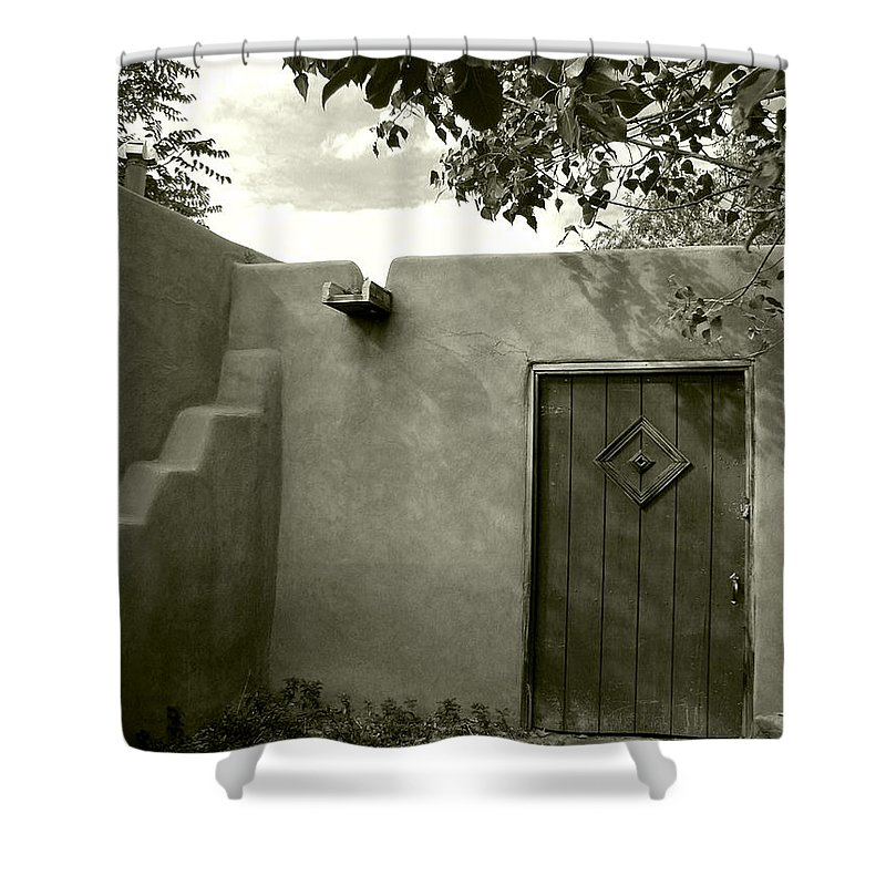 New Mexico Shower Curtain featuring the photograph New Mexico Series - Doorway Iv by Kathleen Grace