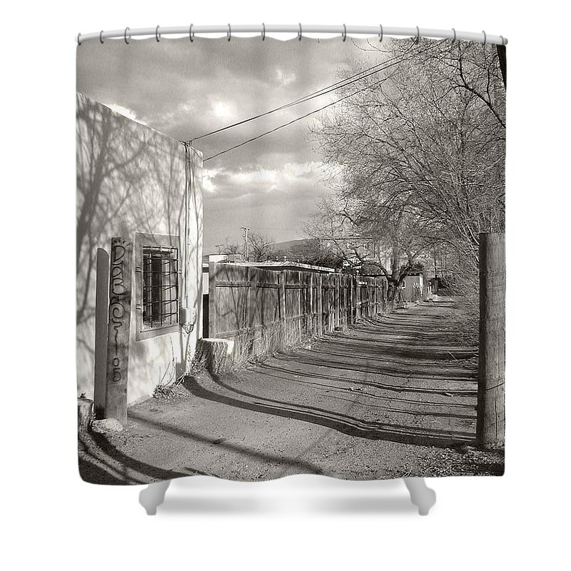 Landscape Shower Curtain featuring the photograph New Mexico Series - Late Day by Kathleen Grace