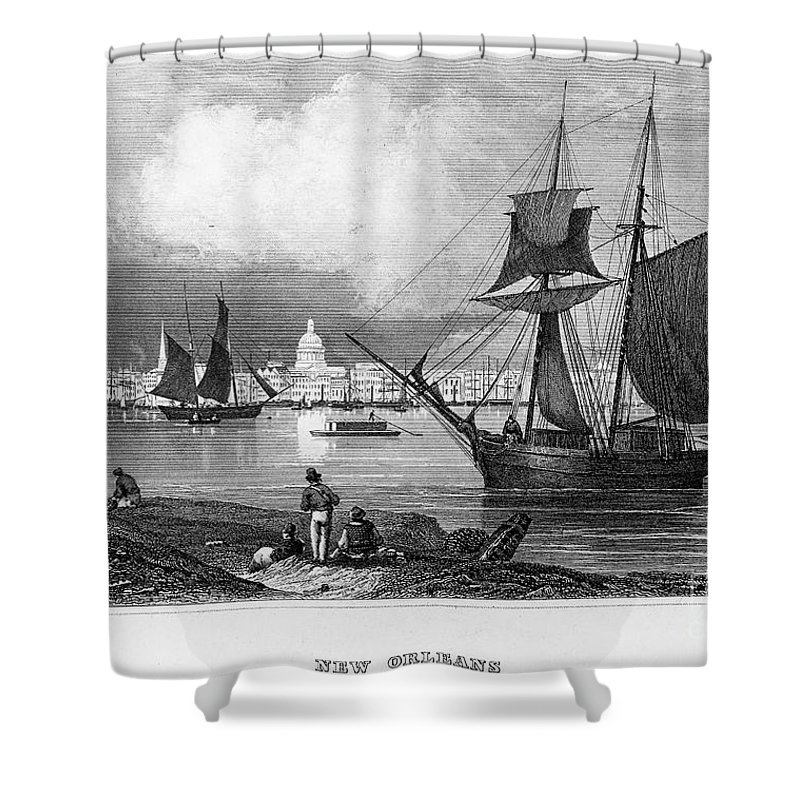 1847 Shower Curtain featuring the photograph New Orleans, 1847 by Granger