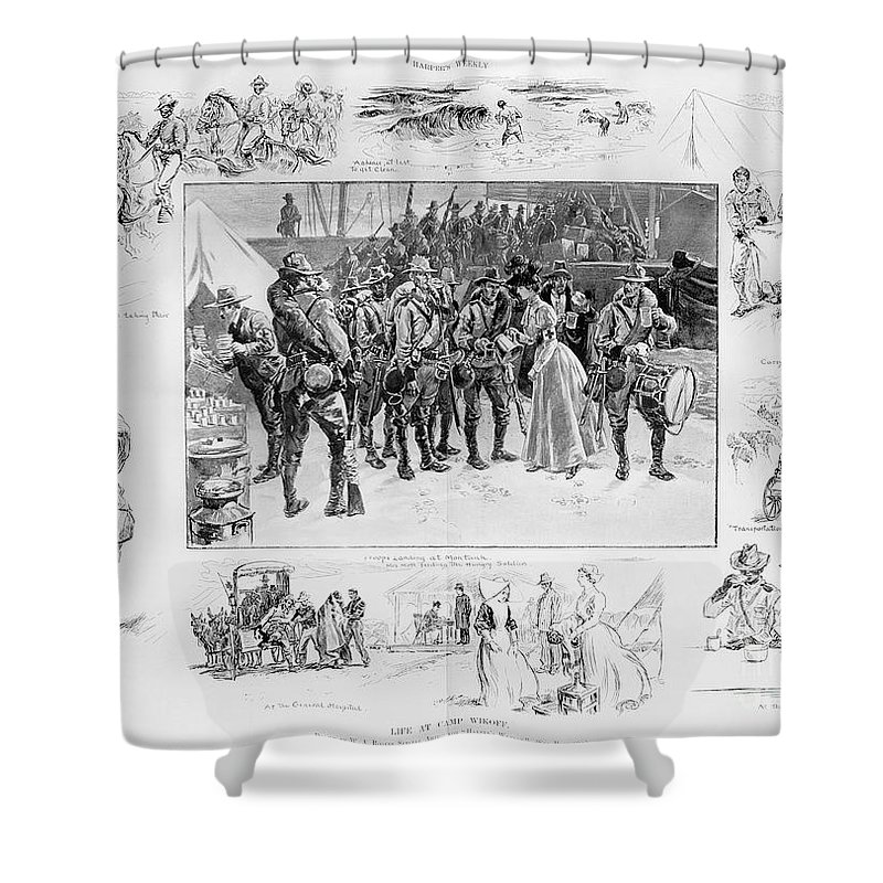 1898 Shower Curtain featuring the photograph New York: Camp Wikoff, 1898 by Granger