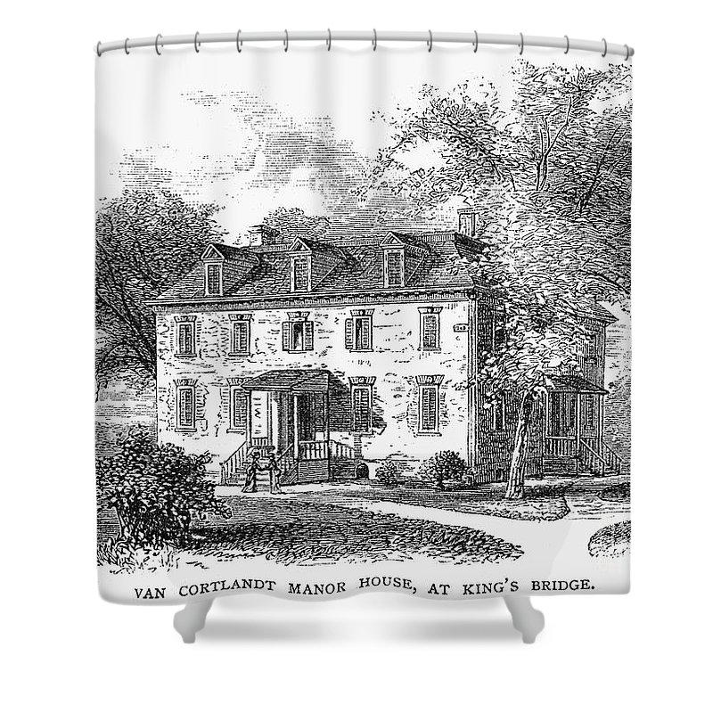 1748 Shower Curtain featuring the photograph New York Mansion, 1748 by Granger