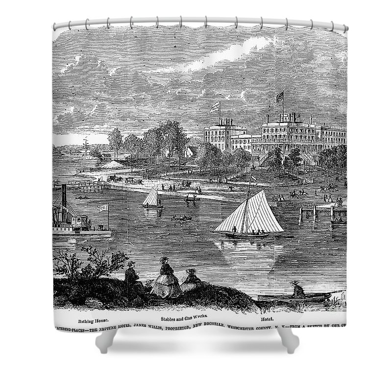 1862 Shower Curtain featuring the photograph New York State: Hotel, 1862 by Granger