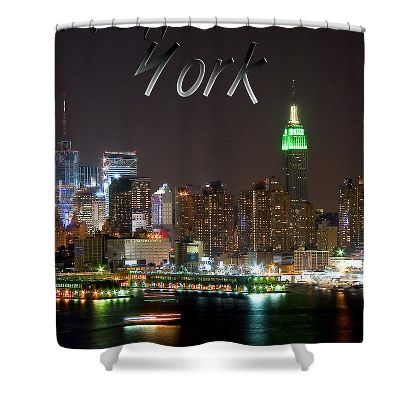 New York Shower Curtain featuring the photograph New York by Syed Aqueel