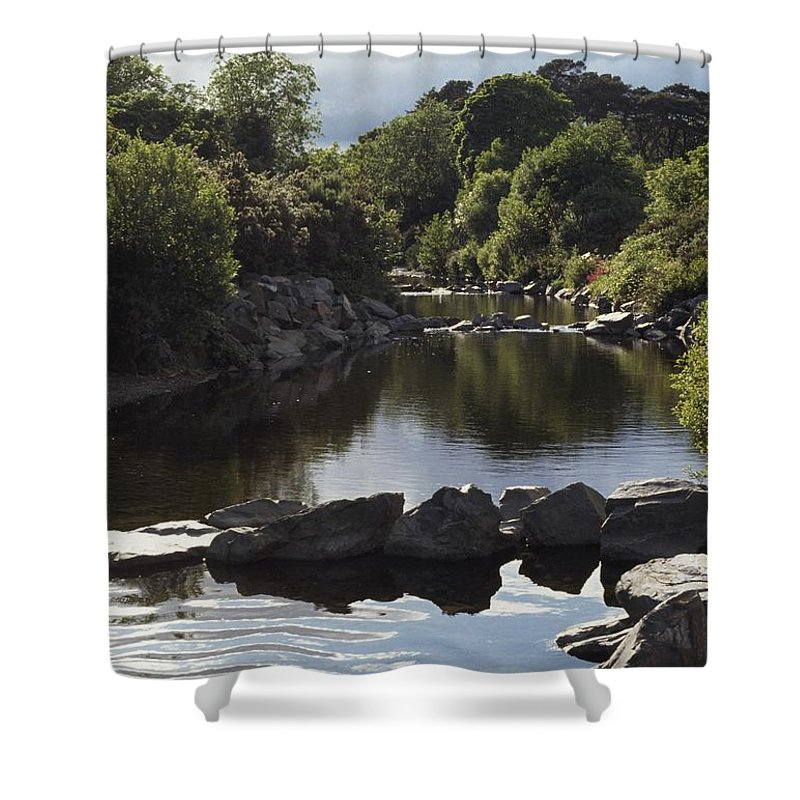 Co. Down Shower Curtain featuring the photograph Newcastle, Shimna River, Co Down by The Irish Image Collection