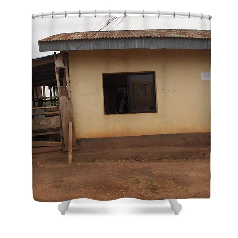 Church Shower Curtain featuring the photograph Nigerian Church by Amy Hosp