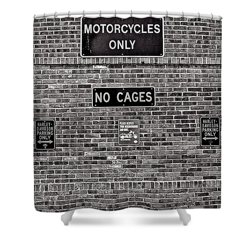 Cj Schmit Shower Curtain featuring the photograph No Cages by CJ Schmit