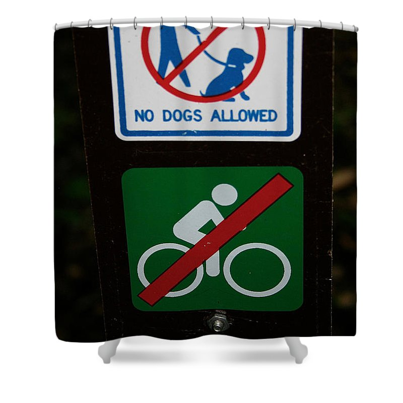 Outdoors Shower Curtain featuring the photograph No Fun Allowed by Susan Herber
