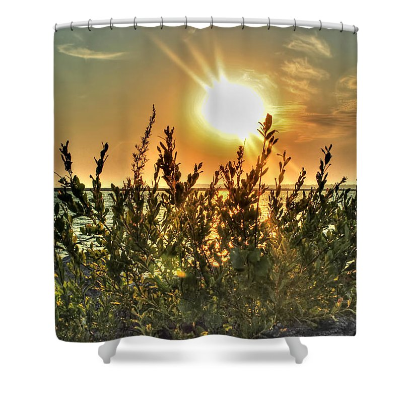 Shower Curtain featuring the photograph No Words Needed by Michael Frank Jr