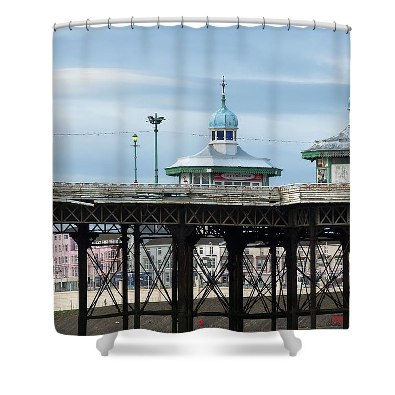2010 Shower Curtain featuring the photograph North Pier by Andrew Michael