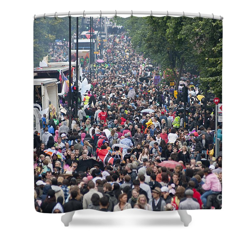 2010 Shower Curtain featuring the photograph Notting Hill Carnival by Andrew Michael