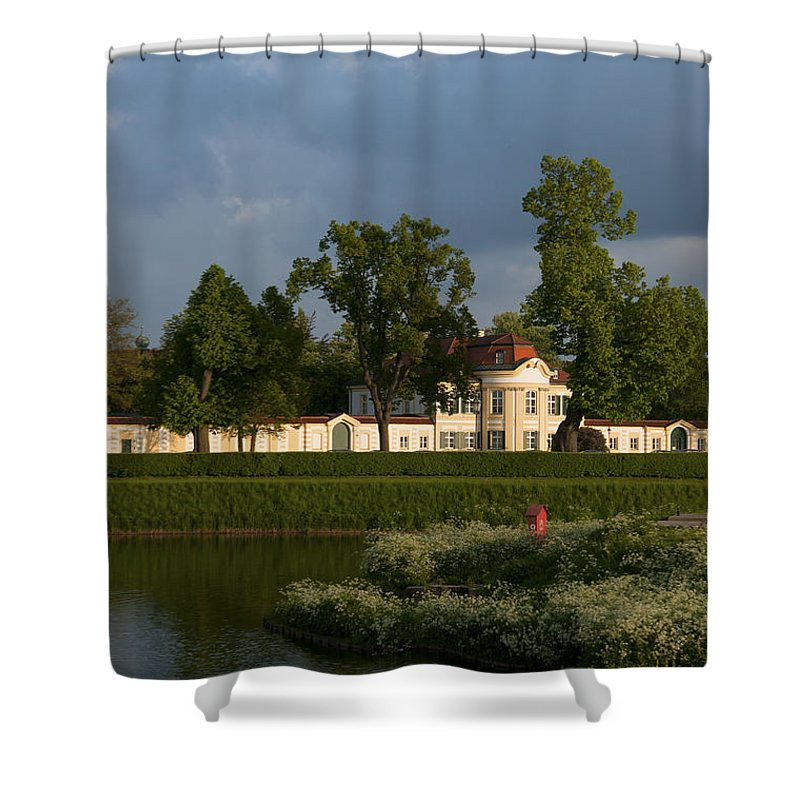 Bavaria Shower Curtain featuring the photograph Nymphenburg Palace Buildings by Andrew Michael