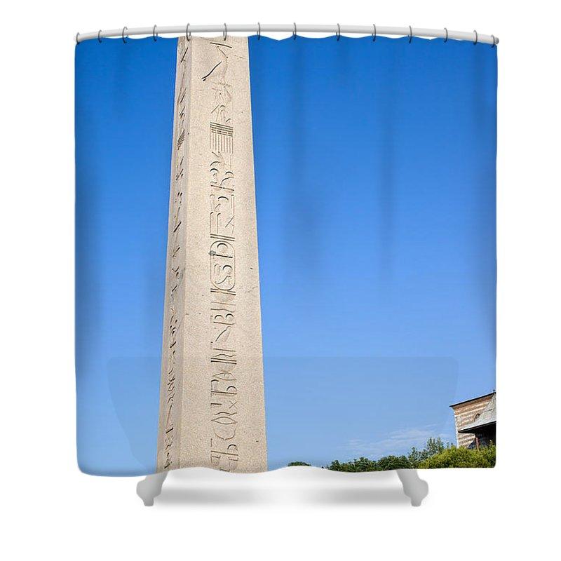 Obelisk Shower Curtain featuring the photograph Obelisk Of Theodosius by Artur Bogacki