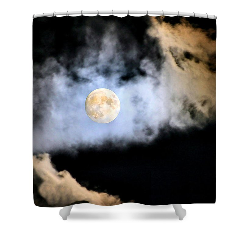 Moon Shower Curtain featuring the photograph Obscured By Clouds by Kristin Elmquist