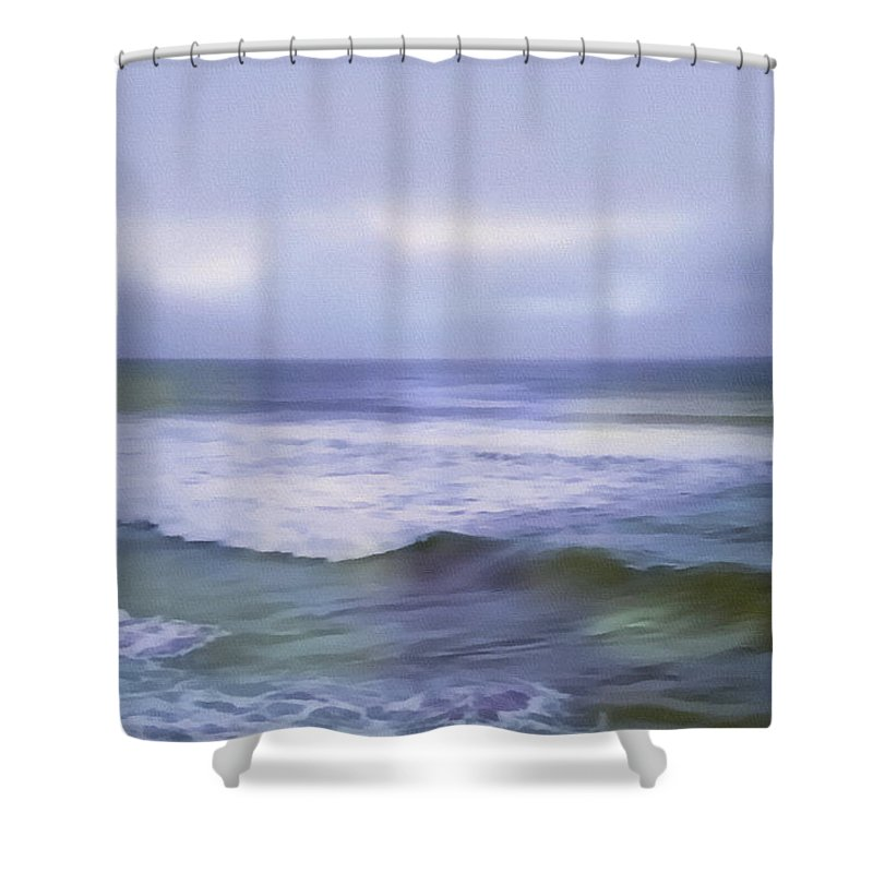 Ocean Shower Curtain featuring the painting Ocean Dreamscape by Georgiana Romanovna