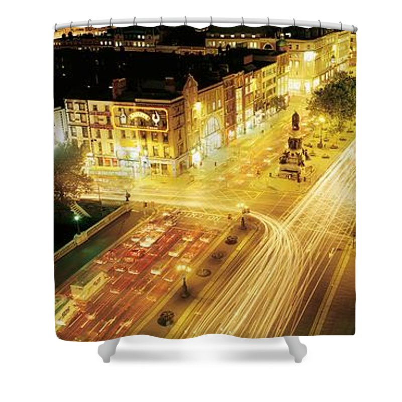 Building Shower Curtain featuring the photograph Oconnell Street, Dublin City, Dublin by The Irish Image Collection