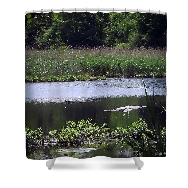 2d Shower Curtain featuring the photograph Old Fishing Hole by Brian Wallace