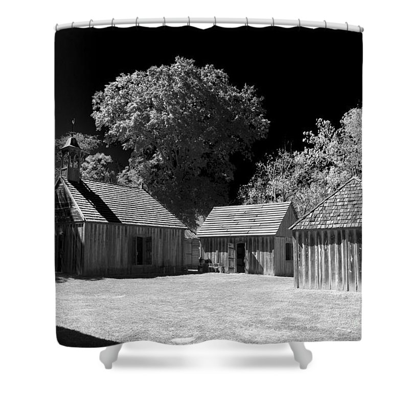 Fort Shower Curtain featuring the photograph Old Fort by Ken Frischkorn