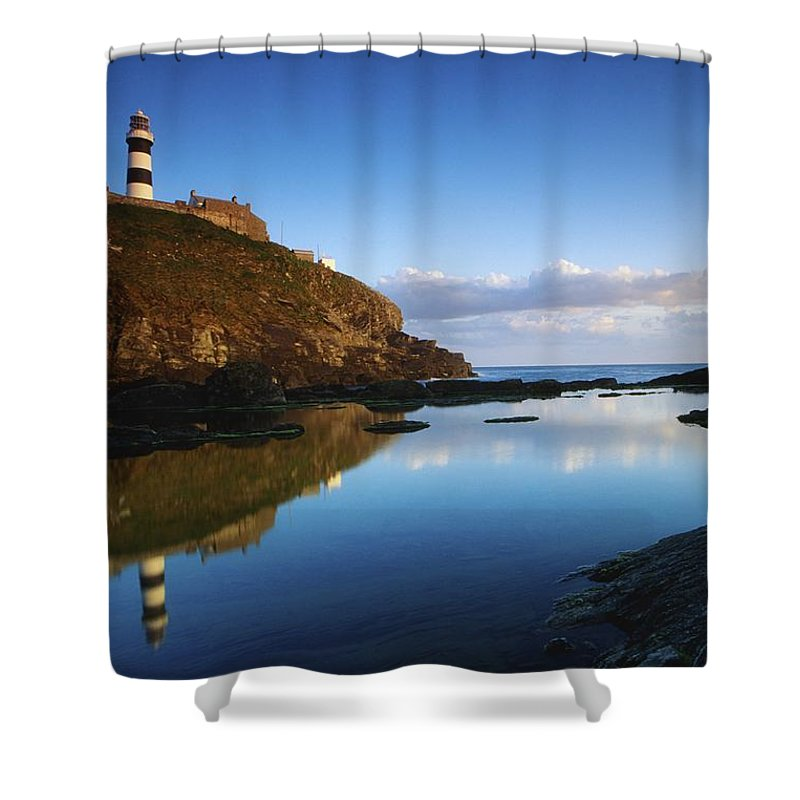Bluff Shower Curtain featuring the photograph Old Head Of Kinsale, County Cork by Richard Cummins