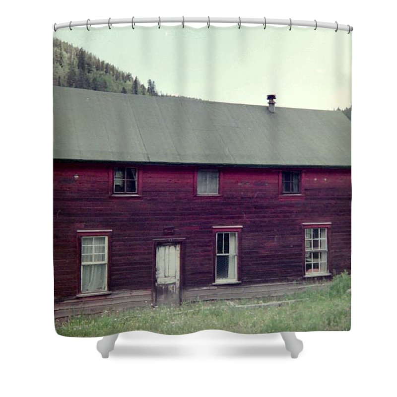 Vintage Shower Curtain featuring the photograph Old Hotel by Bonfire Photography