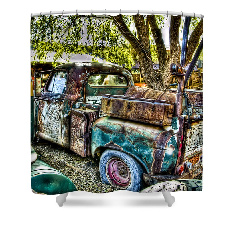 Old Truck Shower Curtain featuring the photograph Old Pickup by Jon Berghoff